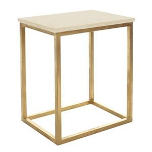 Safavieh Tad 20.7-in Ivory/Gold Accent Table