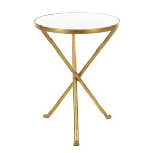Safavieh Marcie 21.2-in White/Gold Accent Table
