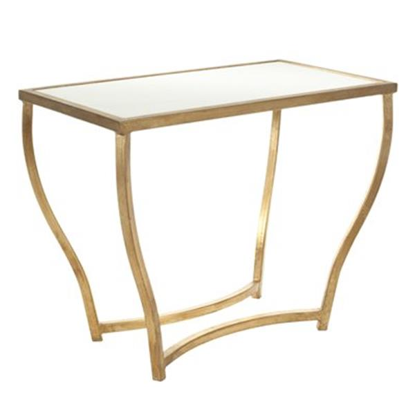 Safavieh Rex 20-in White/Gold Accent Table