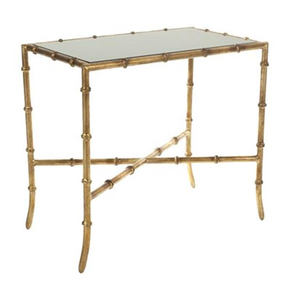 Safavieh Donald 21.1-in Distressed Gold Accent Table