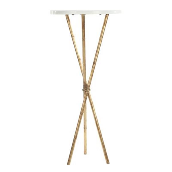Safavieh Wayne 35.5-in White/Gold Accent Table