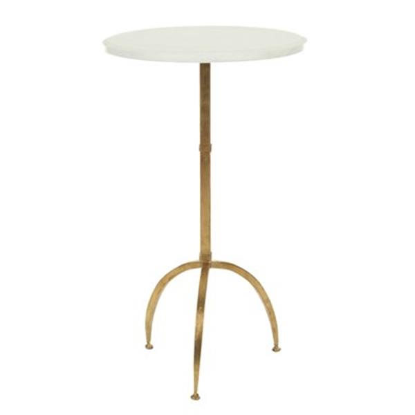 Safavieh Crytal 24.6-in White/Gold Accent Table