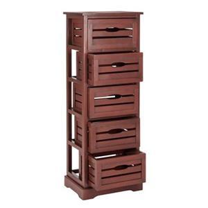 Safavieh Sarina Distressed Red Five Drawer Cabinet