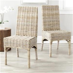 Safavieh Beacon Unfinished Wicker Side Chairs (Set of 2)