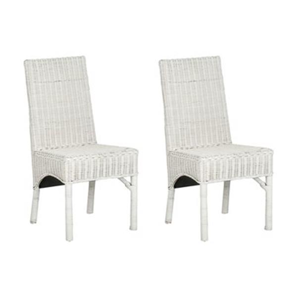 Safavieh Sommerset 18.30-in White Side Chairs (Set of 2)