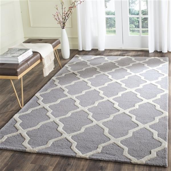 Safavieh Cambridge Silver and Ivory Area Rug,CAM121D-6
