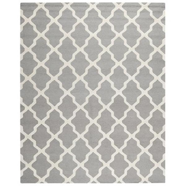 Safavieh Cambridge Silver and Ivory Area Rug,CAM121D-8