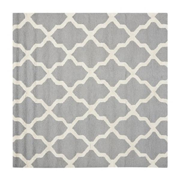 Safavieh Cambridge Silver and Ivory Area Rug,CAM121D-8SQ