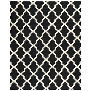 Safavieh Cambridge Black and Ivory Area Rug,CAM121E-8
