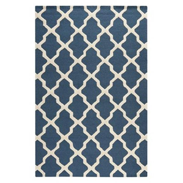 Safavieh Cambridge Navy Blue and Ivory Area Rug,CAM121G-6