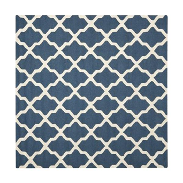 Safavieh Cambridge Navy Blue and Ivory Area Rug,CAM121G-6SQ