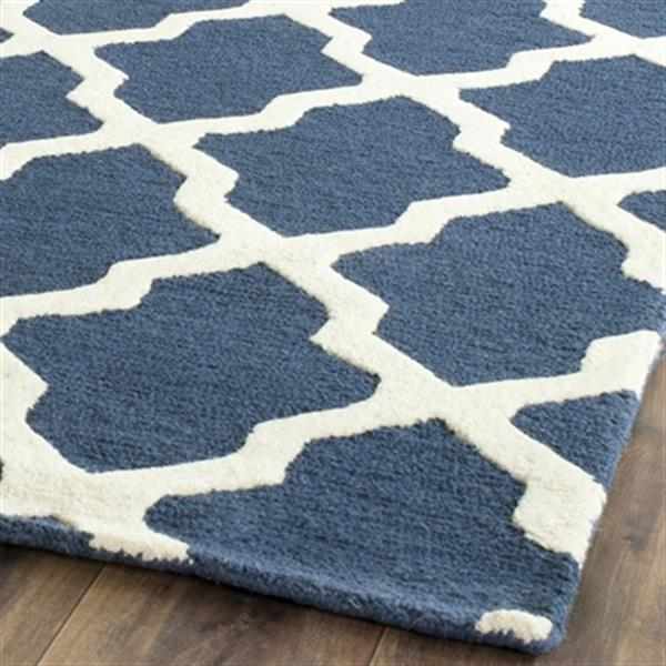 Safavieh Cambridge Navy Blue and Ivory Area Rug,CAM121G-8