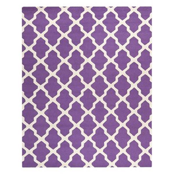 Safavieh Cambridge Purple and Ivory Area Rug,CAM121K-8