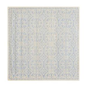 Safavieh Cambridge Light Blue and Ivory Area Rug,CAM123A-6SQ