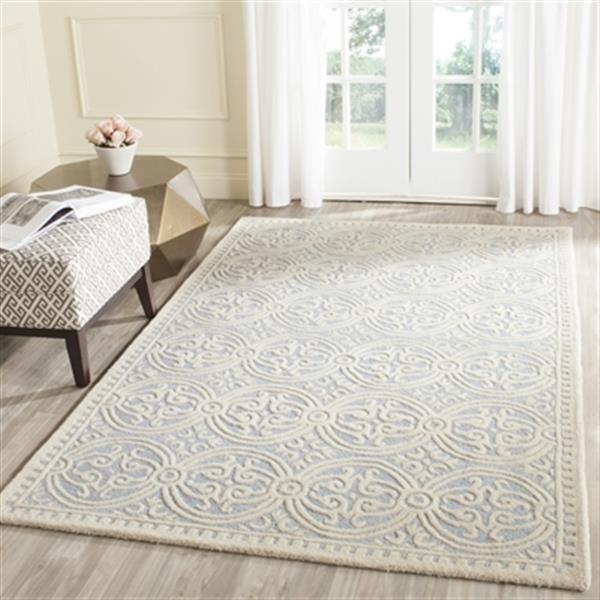 Safavieh Cambridge Light Blue and Ivory Area Rug,CAM123A-6