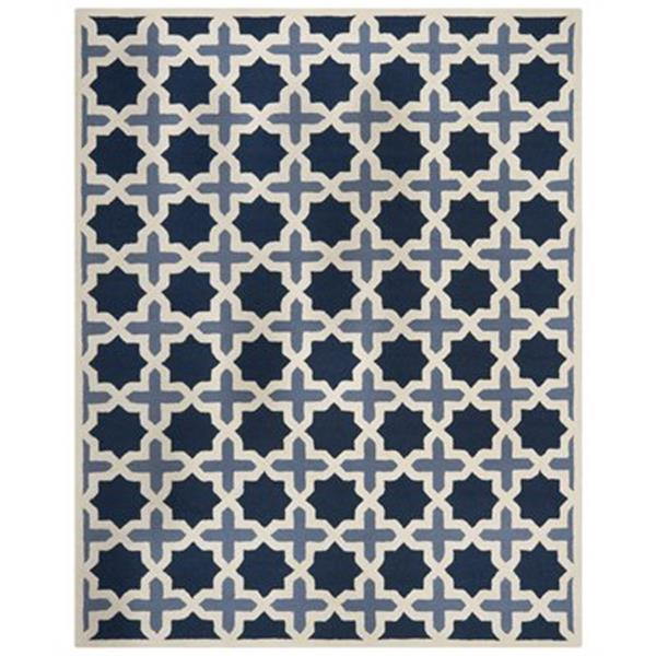 Safavieh Cambridge Light Blue and Ivory Area Rug,CAM127A-8