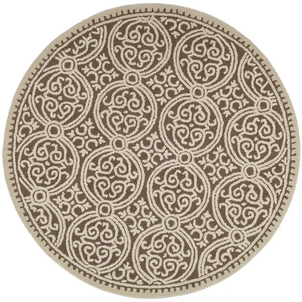 Safavieh Cambridge Brown and White Area Rug,CAM232A-8R