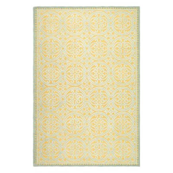 Safavieh Cambridge Blue and Gold Area Rug,CAM234A-8SQ