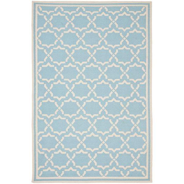 Safavieh Dhurries Light Blue and Ivory Area Rug,DHU545B-8