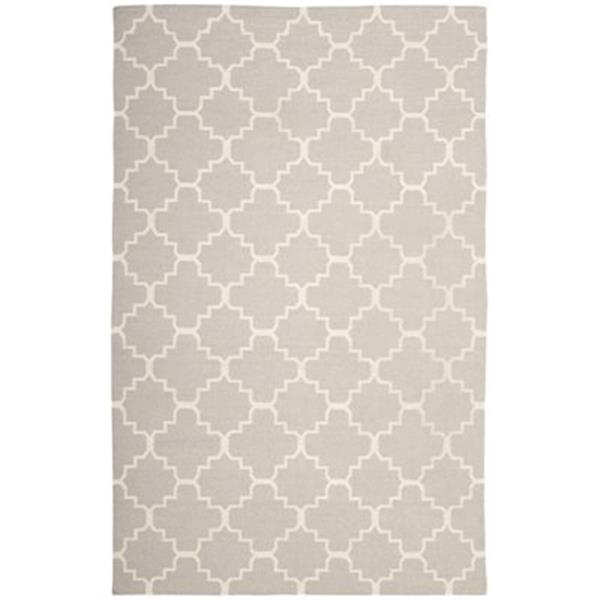 Safavieh Dhurries Grey and Ivory Area Rug,DHU554G-8SQ