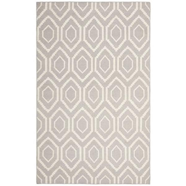 Safavieh Dhurries Grey and Ivory Area Rug,DHU556G-8