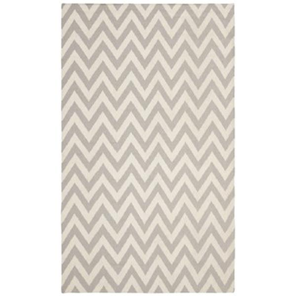 Safavieh Dhurries Grey and Ivory Area Rug,DHU557C-8