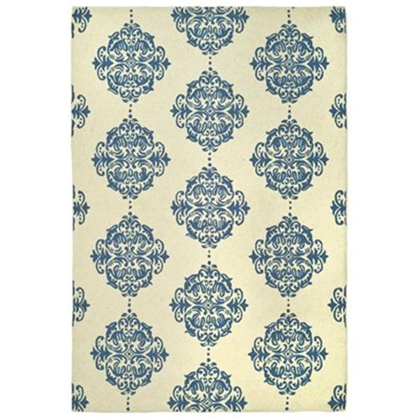 Safavieh Chelsea Ivory and Blue Area Rug,HK145A-6