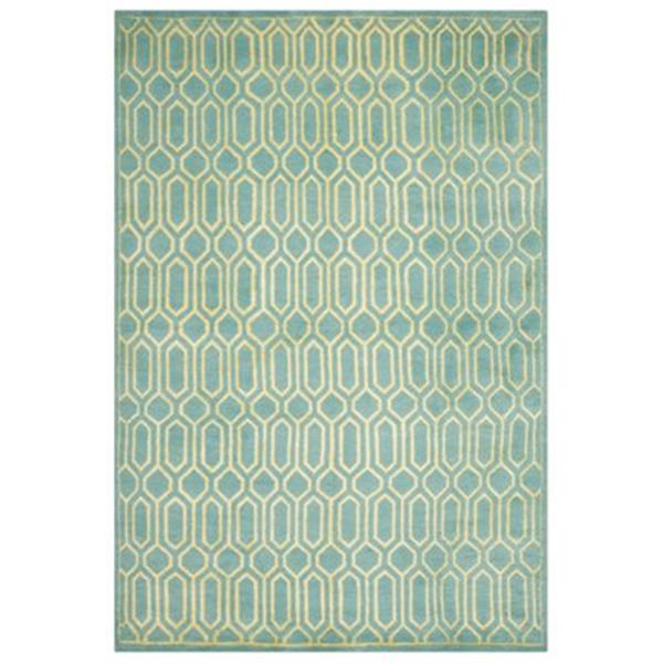 Safavieh MOS150A Mosaic Area Rug, Aqua / Light Gold,MOS150A-