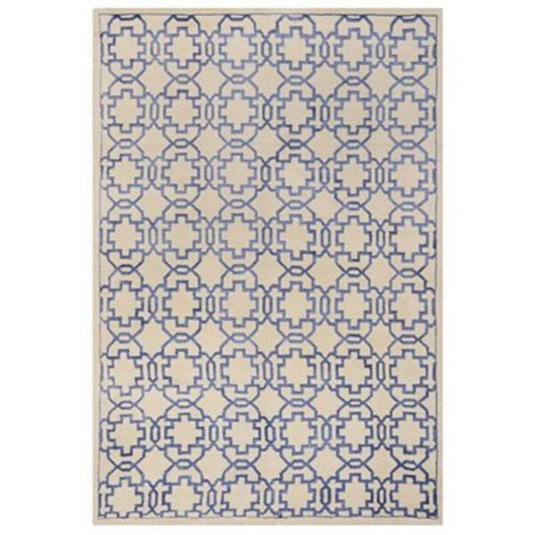 Safavieh MOS152A Mosaic Area Rug, Cream / Purple,MOS152A-5