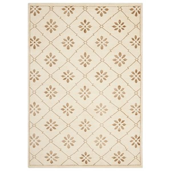 Safavieh MOS154A Mosaic Area Rug, Cream / Light Brown,MOS154