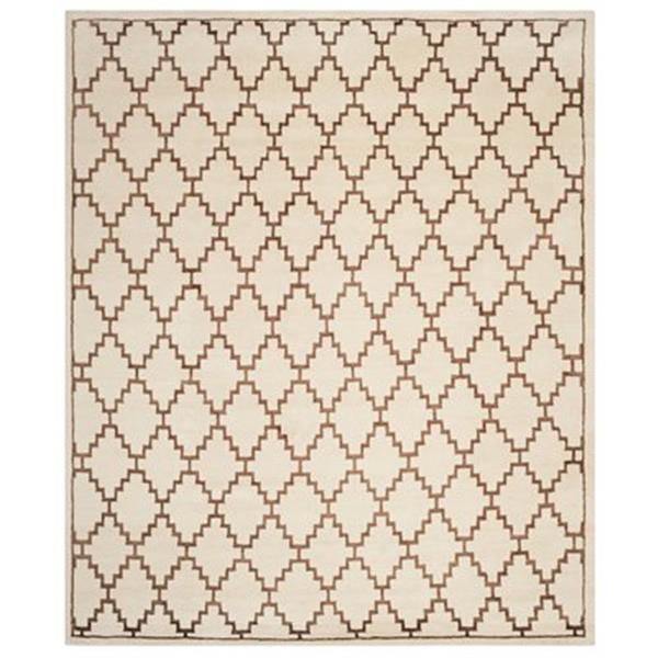 Safavieh MOS160A Mosaic Area Rug, Ivory / Brown,MOS160A-8