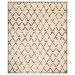 Safavieh MOS160A Mosaic Area Rug, Ivory / Brown,MOS160A-5