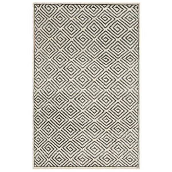 Safavieh Mosaic Ivory and Grey Area Rug,MOS161A-4