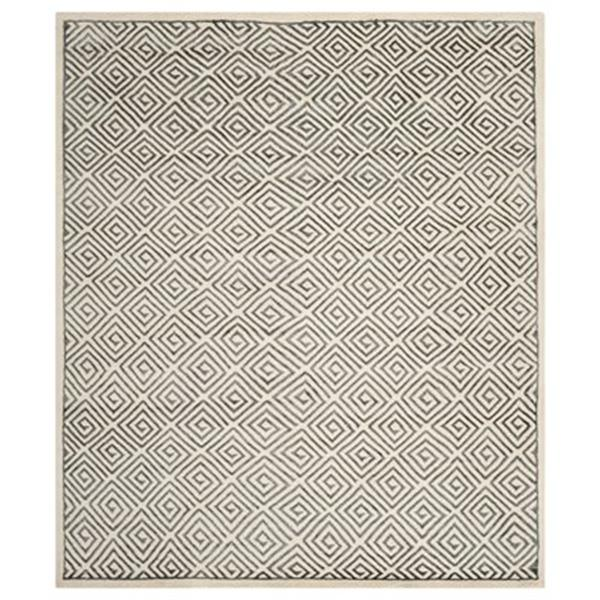 Safavieh Mosaic Ivory and Grey Area Rug,MOS161A-8
