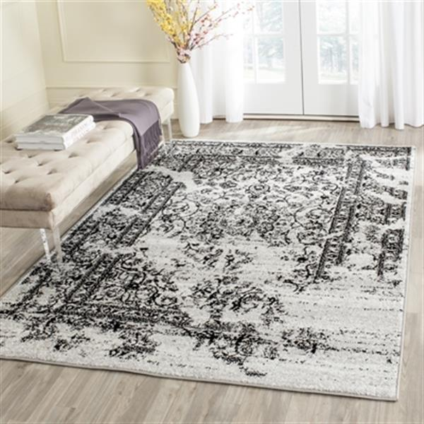 Safavieh ADR101A Adirondack Silver and Black Area Rug,ADR101