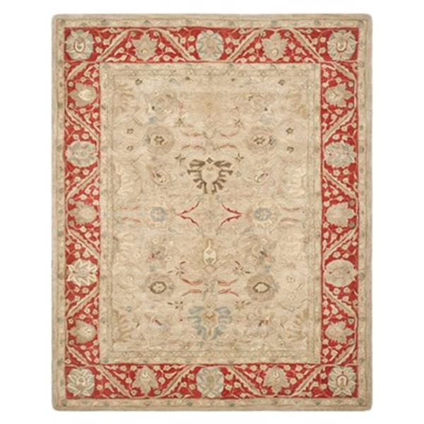 Safavieh Anatolia Taupe and Red Area Rug,AN569A-8