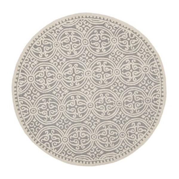 Safavieh Cambridge Silver and Ivory Area Rug,CAM123D-8R