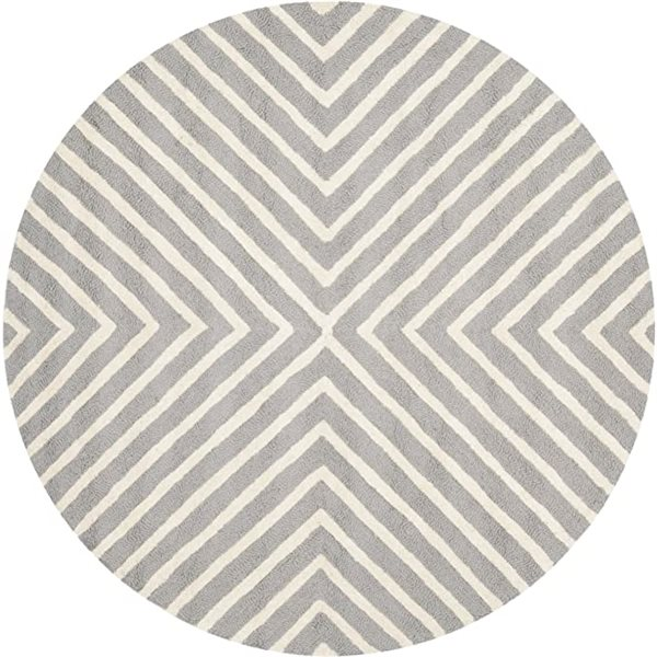 Safavieh Cambridge Silver and Ivory Area Rug,CAM129D-8R