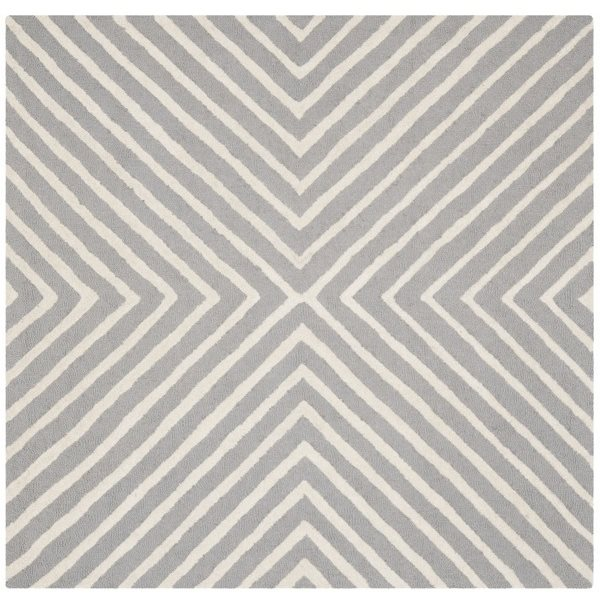 Safavieh Cambridge Silver and Ivory Area Rug,CAM129D-8SQ