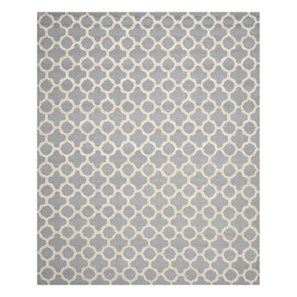 Safavieh Cambridge Silver and Ivory Area Rug,CAM130D-8