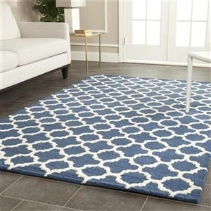 Safavieh Cambridge Navy and Ivory Area Rug,CAM130G-6