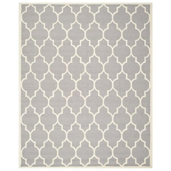 Safavieh Cambridge Silver and Ivory Area Rug,CAM134D-8