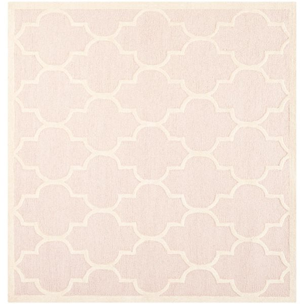 Safavieh Cambridge Light Pink and Ivory Area Rug,CAM134M-8SQ