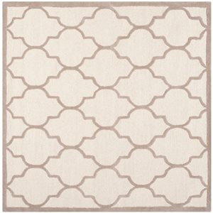 Safavieh Cambridge Ivory and Beige Area Rug,CAM134P-8SQ