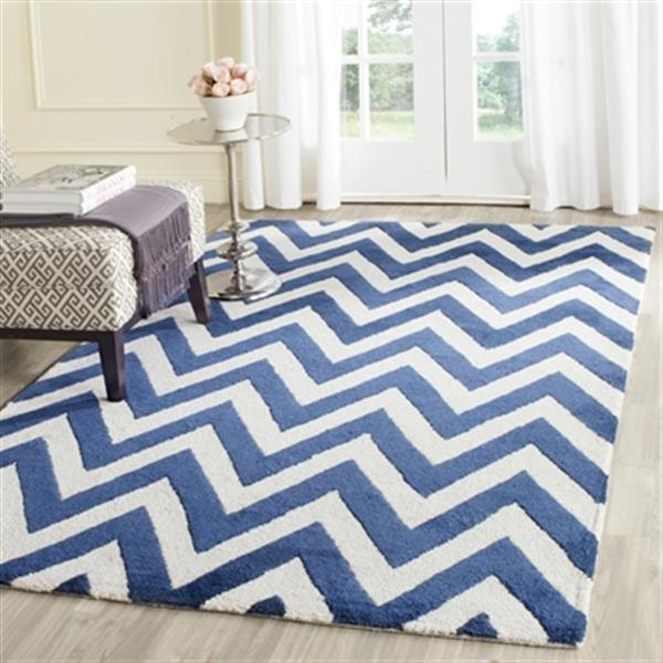 Safavieh Cambridge Navy and Ivory Area Rug,CAM139G-8