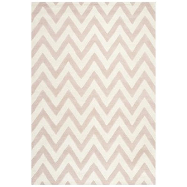 Safavieh Cambridge Light Pink and Ivory Area Rug,CAM139M-6