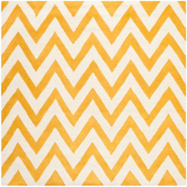 Safavieh Cambridge Gold and Ivory Area Rug,CAM139Q-8SQ