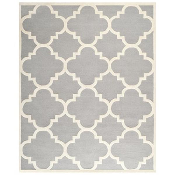 Safavieh Cambridge Silver and Ivory Area Rug,CAM140D-8