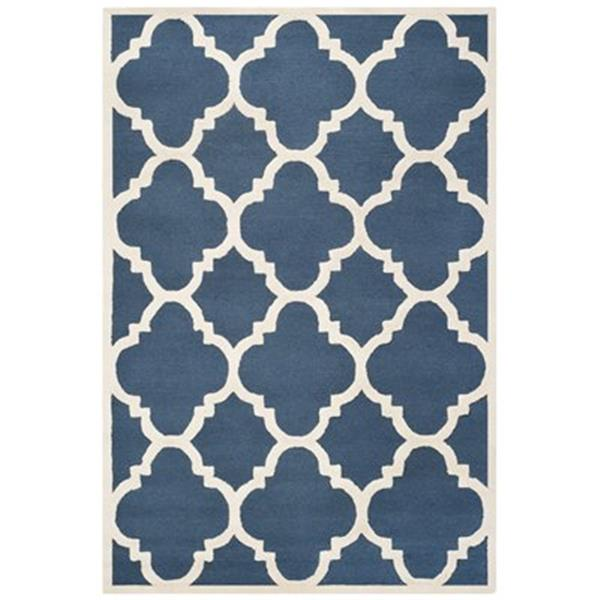 Safavieh Cambridge Navy and Ivory Area Rug,CAM140G-6