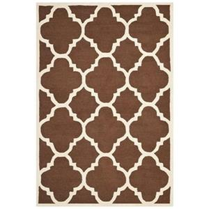 Safavieh CAM140H Cambridge Area Rug, Dark Brown / Ivory,CAM1